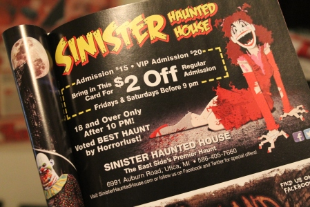 A close up of the ad where you can actually see the phrase Horrorlust.