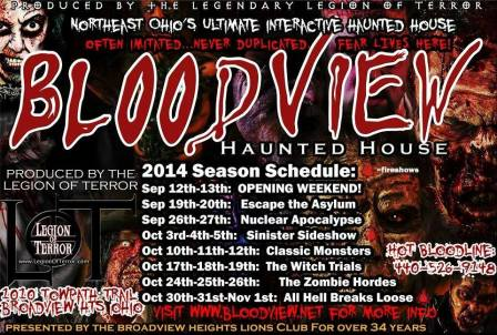 2014 Bloodview Scheudle