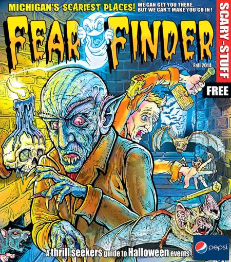 On first impression this cover put me in mind of the science lab featured on the 2004 edition of the Fear Finder.