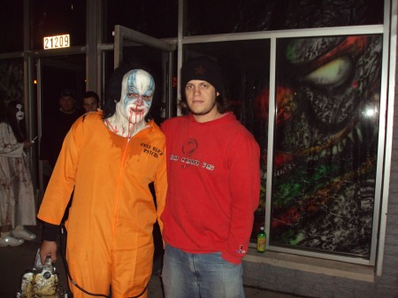 Circa 2009: I pose with a fun character we dubbed the Pasty-Faced Ghoulie.